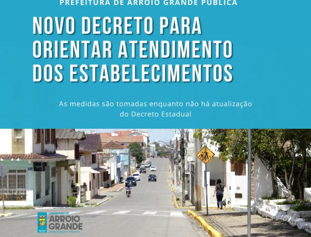 Prefeitura publica novo decreto para orientar atendimento dos estabelecimentos