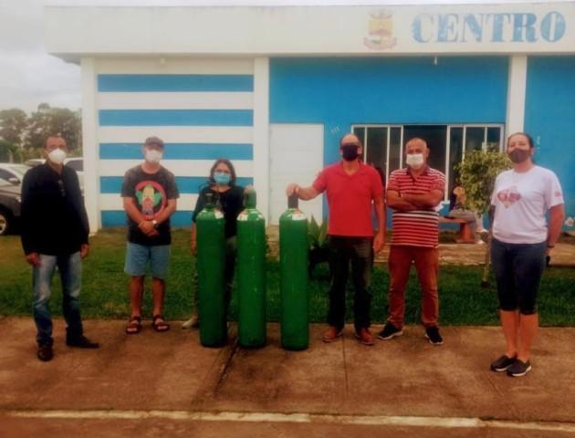 Prefeitura recebe cilindros de oxigênio do Rotary Arroio Grande