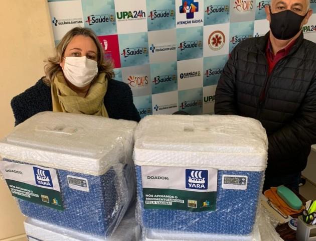 Secretaria de Saúde recebe doação