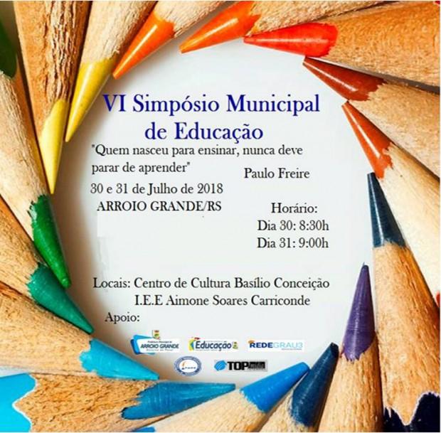 VI Simpósio Municipal de Educação.